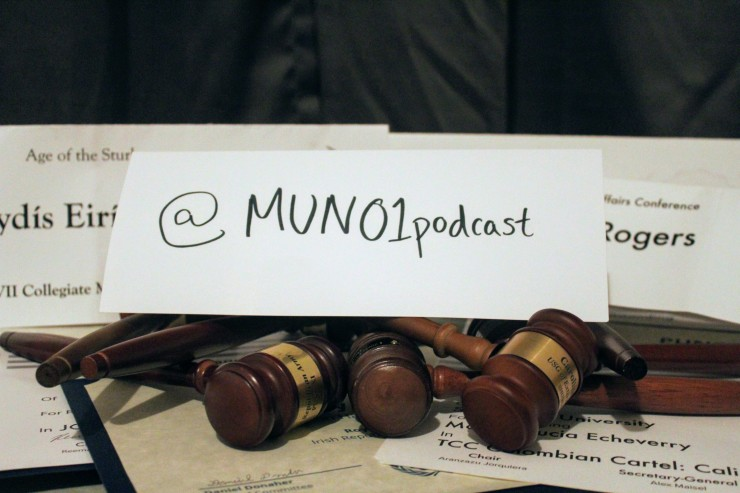 MUN01 Podcast handle with gavels