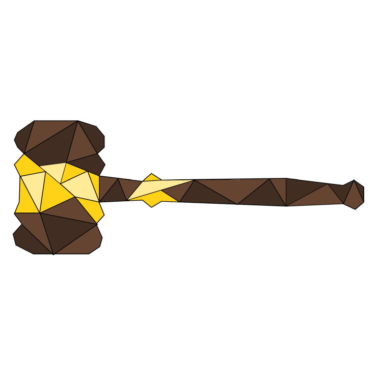 MUN Gavel Sticker
